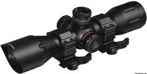 UTG 4X32 1 Crossbow Scope, Pro 5-Step RGB Reticle, QD Rings